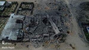 تصاویر هوایی جدید از خسارت حملات رژیم صهیونیستی به غزه