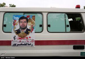 عکس/ بزرگداشت شهید مدافع سلامت رضا غضنفرپور