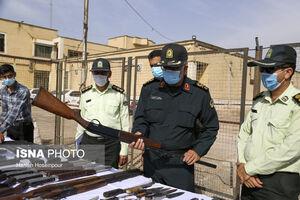 عکس/ انهدام باند سارقین و قاچاق کالا در شیراز