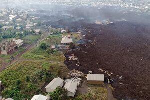 تصاویر جدید از خسارت فوران آتشفشان کنگو