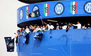 عکس/ جشن قهرمانی اینتر در سری آ ایتالیا