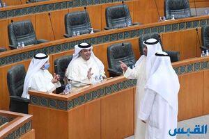 عکس/ لغو جلسه پارلمان کویت به علت نشستن نمایندگان در جایگاه وزیران