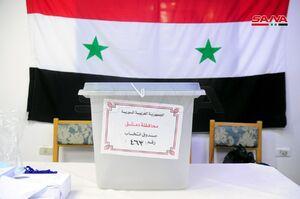 عکس/ حضور پرشور مردم سوریه پای صندوقهای رای