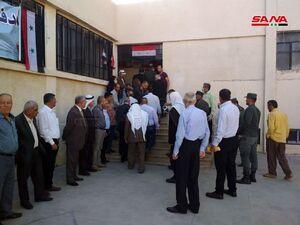 فیلم/ حضور گسترده مردم سوریه در انتخابات