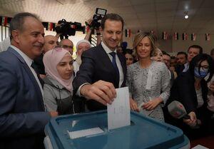 فیلم/ حضور بشار اسد در پای صندوق رای