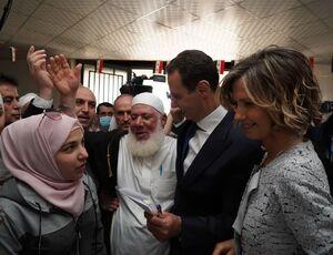 عکس/ بشار اسد به همراه همسرش رای داد