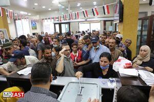 تصاویر جدید از حضور پرشور مردم سوریه در انتخابات