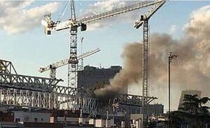 آتش سوزی در ورزشگاه رئال مادرید