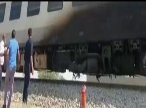 فیلم/ قطار مسافربری یزد-تهران که دچار حریق شد