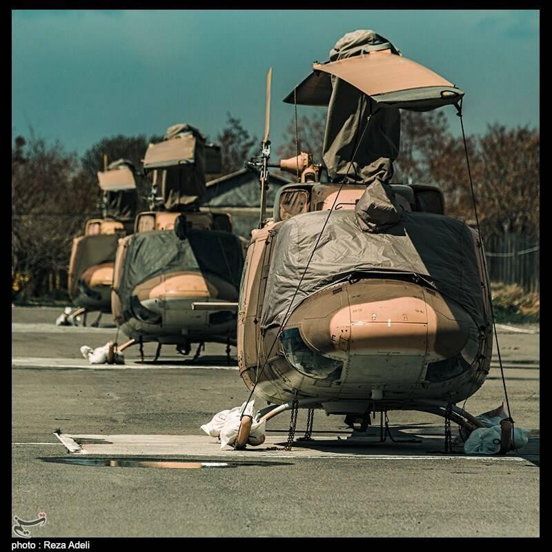 اورهال سه فروند بالگرد در پایگاه چهارم هوانیروز ارتش