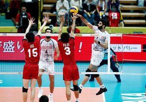 شکست والیبالیستهای ایران مقابل ژاپن در اولین دیدار