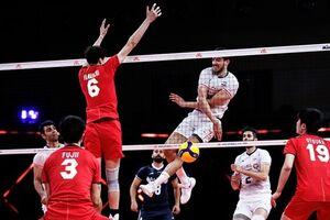 عکس/ شکست سنگین والیبال ایران مقابل ژاپن
