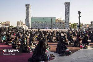 عکس/ تجمع بزرگ رأی اولیها در میدان آیینی امام حسین(ع)