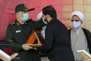 عکس/ حضور سرلشکر سلامی در مراسم چهلم شهادت سردار حجازی