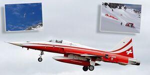سقوط جنگنده «اف-۵ تایگر» نیروی هوایی سوئیس