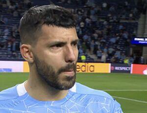 عکس/ اشکهای آگوئرو پس از شکست در فینال