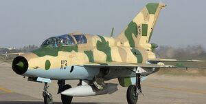 سقوط میگ- ۲۱ ارتش لیبی حین انجام بزرگترین رژه نظامی این کشور+فیلم