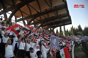 ادامه جشن مردم سوریه به مناسبت پیروزی اسد