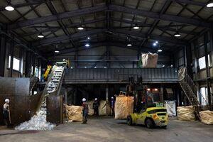 عکس/ کارخانه بازیافت پلاستیک در کره جنوبی