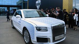 عکس/ تولید خودرو لوکس روسی آغاز شد