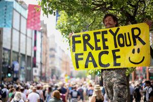 تظاهرات «نه به واکسن کرونا» در لندن