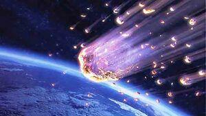برخورد ناگهانی یک سنگ به ایستگاه فضایی +فیلم
