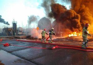جزئیات آتشسوزی در پالایشگاه تهران +عکس