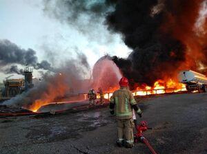 پالایشگاه تهران آتش سوزی
