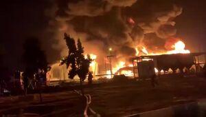 گستردگی آتشسوزی پالایشگاه تهران را در این فیلم ببینید