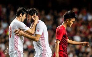 برتری یک نیمهای تیم ملی ایران مقابل هنگکنگ