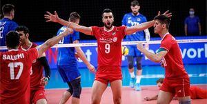 تیم ملی والیبال ایران ست اول را از میزبان برد