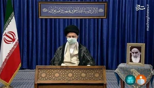 ترجمه آیه نصب شده در حسینیه امام خمینی (ره) در سخنرانی رهبر انقلاب