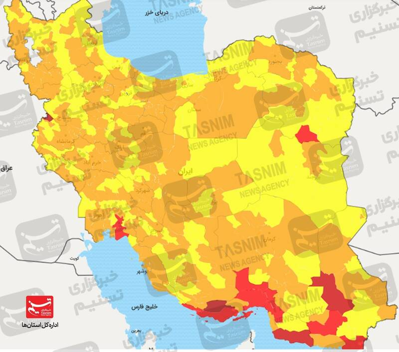 غفلتکنیم پیک پنجم بهزودی از راه میرسد/ افزایش موارد بستری در برخی استانها +نقشه و نمودار