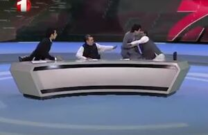 فیلم/ مناظره فوق جنجالی زنده در تلوزیون افغانستان