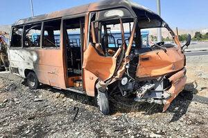 تصادف باعث آتش گرفتن دو خودرو شد