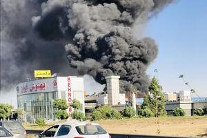 آتش سوزی کارخانه بهنوش