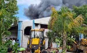 آتشسوزی در کارخانه مواد شیمیایی هند