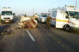 تصادف مرگبار کامیون با پراید در نیشابور ۴ کشته برجای گذاشت - کراپشده