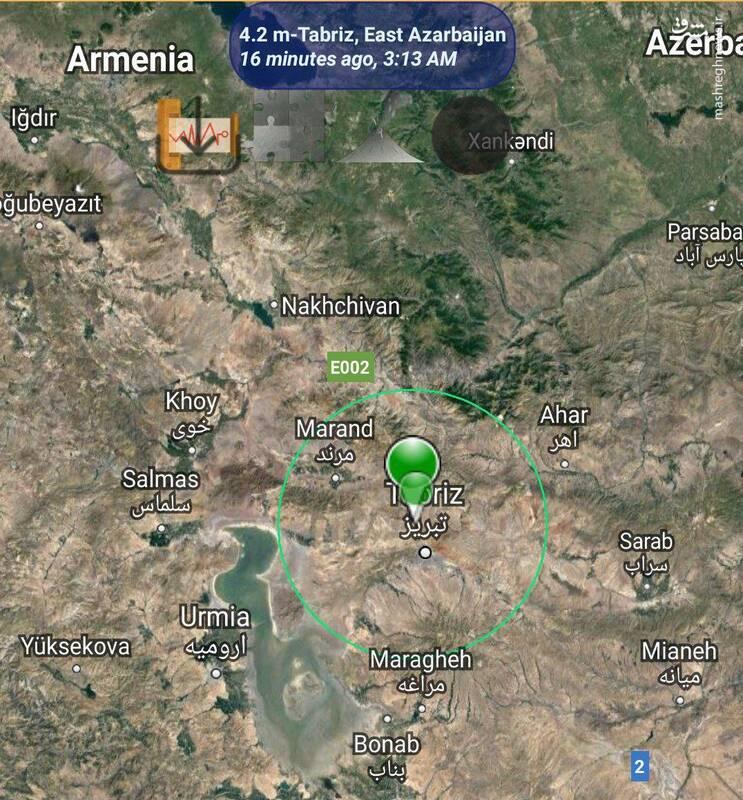 زلزله ۴.۲ ریشتری تبریز را لرزاند