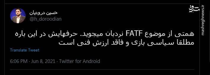 سخنان همتی درباره FATF ارزش فنی ندارد