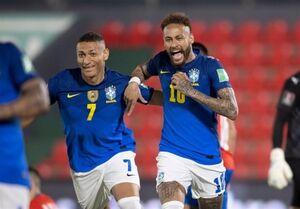 پیروزی برزیل و توقف یاران مسی در انتخابی جام جهانی