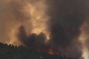 آتش سوزی گسترده در نزدیکی شهرکهای صهیونیست نشین