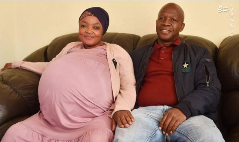 عکس/ زنی که ۱۰ قلو باردار شد