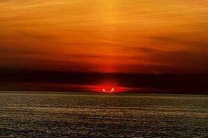 تصاویر دیدنی از خورشیدگرفتگی در نیمکره شمالی
