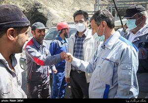 عکس/ بازدید فتاح بازدید از آزادراه تهران-شمال