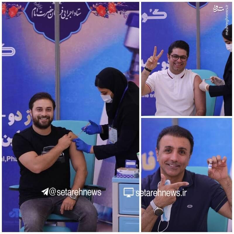 جهانبخش، زندگانی و اشرف زاده هم واکسن ایرانی زدند+عکس
