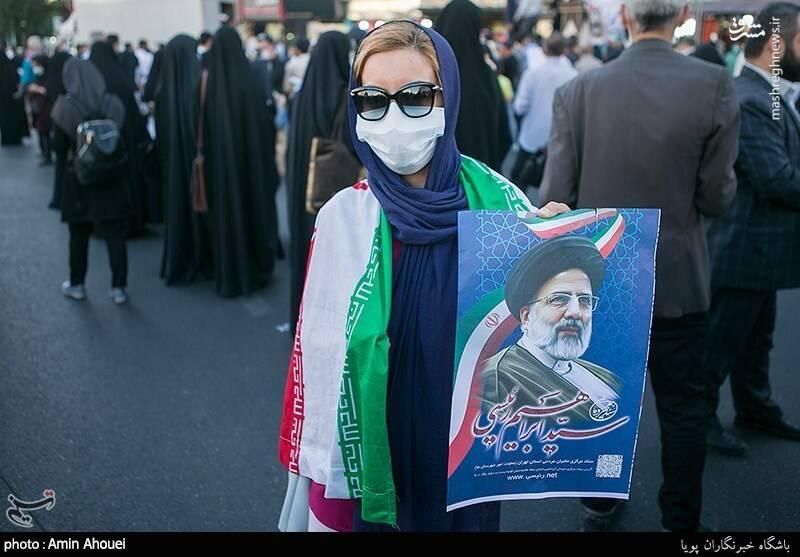 عکس/ گردهمایی حامیان رئیسی در میدان ولیعصر(عج)