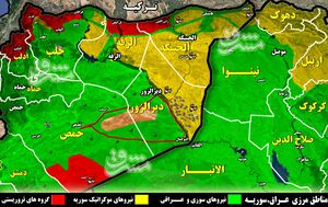 نیروی هوایی روسیه با عناصر مخفی داعش در شرق و جنوب شرق سوریه چه کرد؟ + نقشه میدانی و عکس