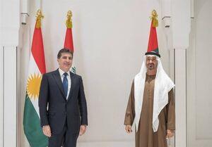 رئیس اقلیم کردستان عراق به امارات متحده سفر کرد