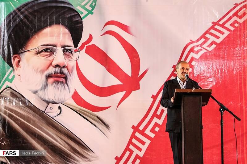 سخنرانی سردارعلیرضا افشار در اجتماع مردمی حامیان سید ابراهیم رئیسی در ورزشگاه تختی